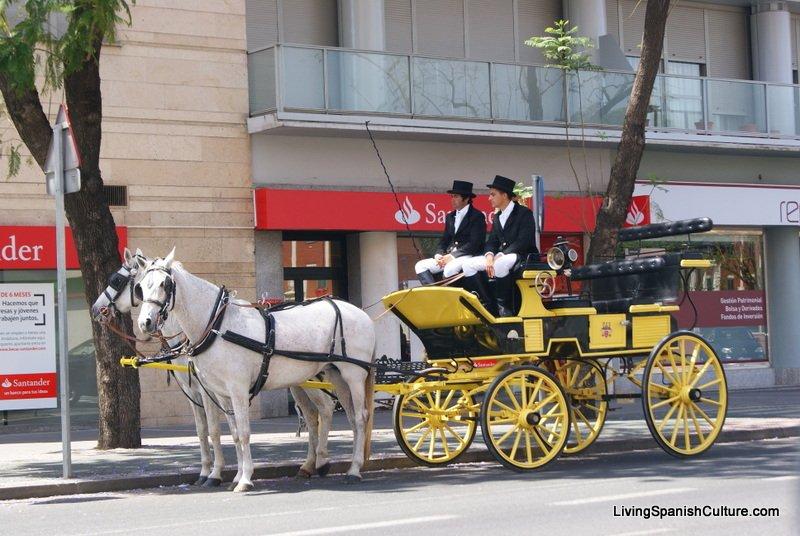 Feria de Sevilla,Spain,Espagne,carriages,voitures-