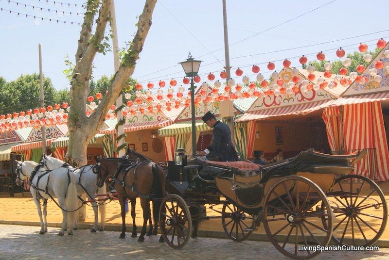 Feria de Sevilla,Spain,Espagne,carriages,voitures.