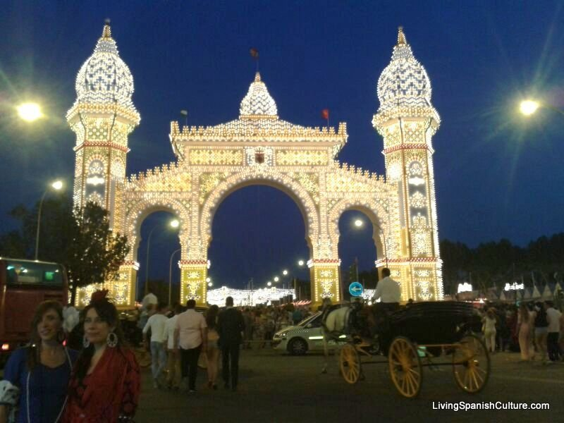 Feria de Sevilla,Spain,the main door 2014