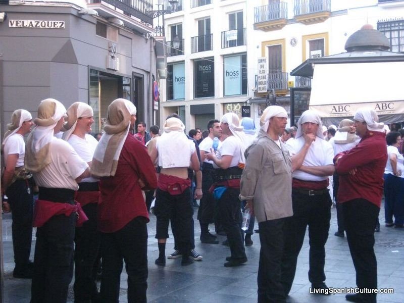 Holly Week,Seville,Spain,uniforms and music groups (11)