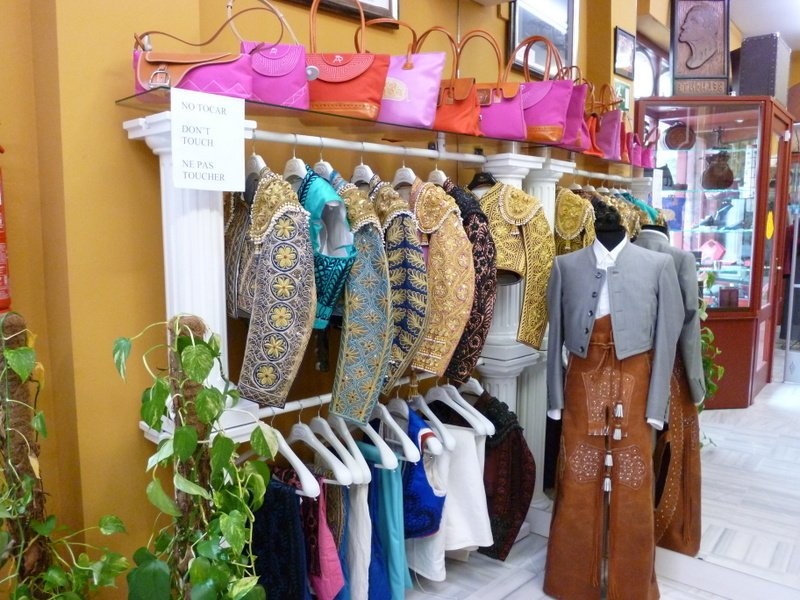 Bullfighter costumes shop