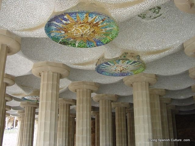 colonnaded courtyard Park Guell