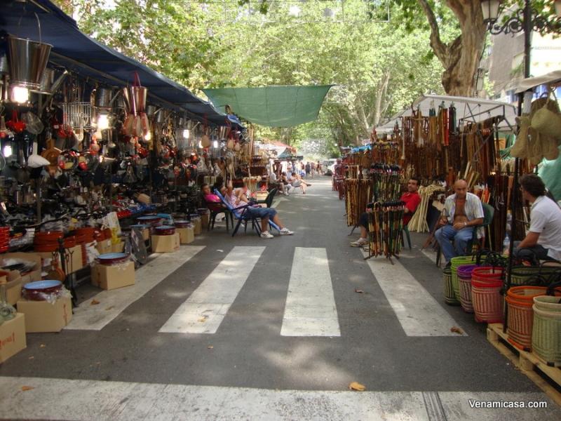 Xativa streets on August Fair