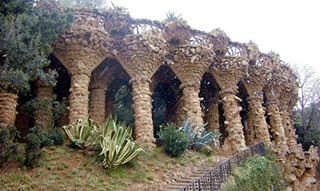 Barcelona. Parc Güell. Unesco World Heritage