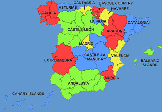 MAP OF SPAIN PROVINCES   Imsa Kolese