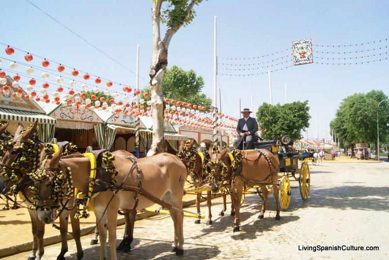 Feria de Sevilla,Spain,Espagne,carriages,voitures,
