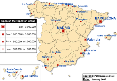 Map Of Spain Labeled.Maps Of Spain Spanish Cities Spanish Provinces Spanish